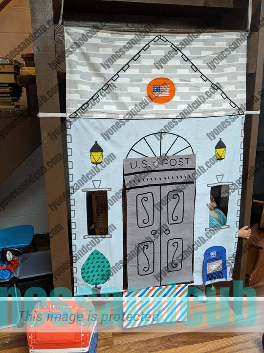 cool doorway playhouse veterinary and U.S. Post Office from Crate & Barrel