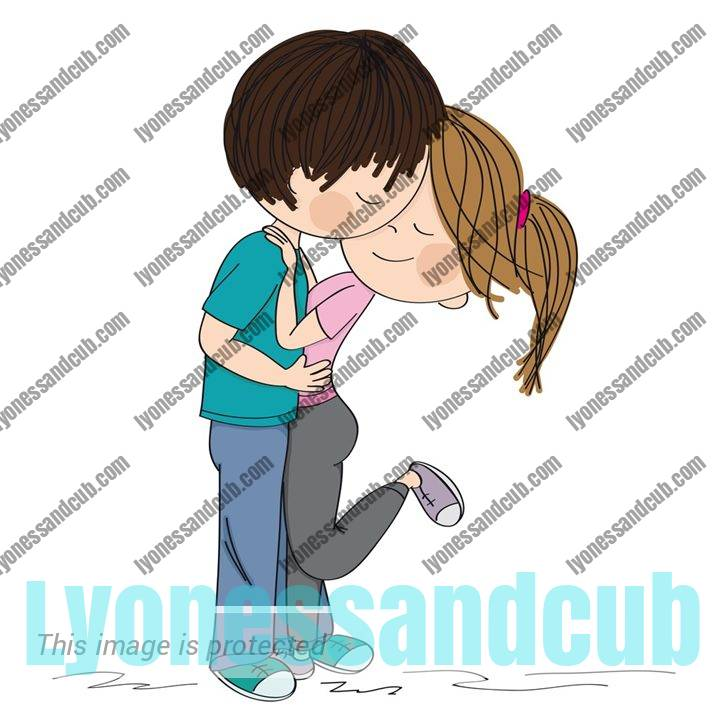 young man and girl embracing each other